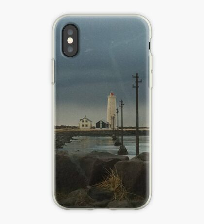 Lighthouse at Grótta iPhone Case