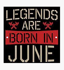 Lámina fotográfica Vintage Legends nacen en junio