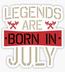 Vintage Legends Are Born In July Sticker