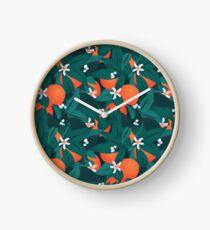 Orange Blossoms Clock