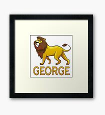 George Lion Drawstring Bags Framed Print