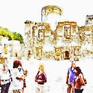 Tourists In the castle by Giuseppe Cocco