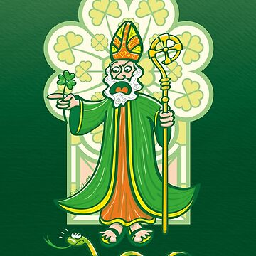 Saint Patrick chasing last Ireland's snake by Zoo-co