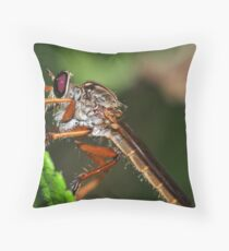 Giant Robber Fly Throw Pillow