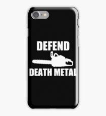 Defend Death Metal iPhone Case/Skin
