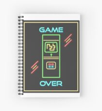 Video Game 80s Neon Sign Spiral Notebook