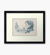A Study In Blue - Sherlock Framed Print