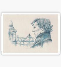 A Study In Blue - Sherlock Sticker