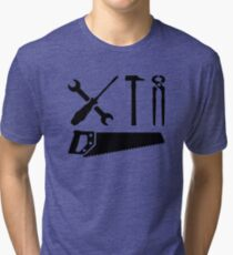 Screwdriver wrench hammer saw Tri-blend T-Shirt