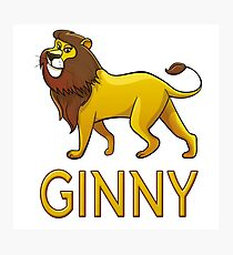 Ginny Lion Drawstring Bags Photographic Print
