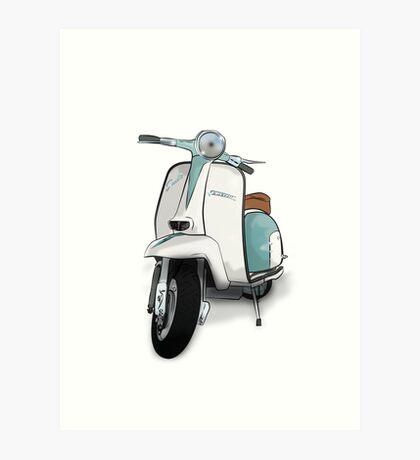 Lambretta Special - Vintage Scooter Art Print
