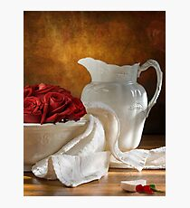White Wheat And Roses Photographic Print