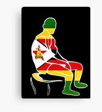 Custom Stencil Man - Zimbabwe  Canvas Print