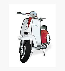 Lambretta Special - Vintage Scooter in Red/White Photographic Print