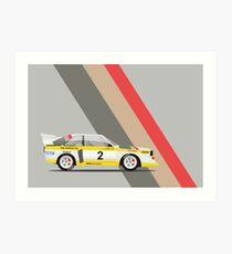 Audi Quattro Rally Car Art Print