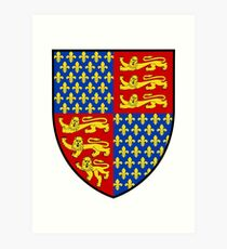 French France Coat of Arms 0082 Arms of Edward III of England  Art Print