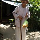Elderly lady I met by the Mekong River, Vietnam by Bev Pascoe