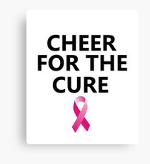 Cheerleading School Breast Cancer T-Shirt Girl Women Canvas Print