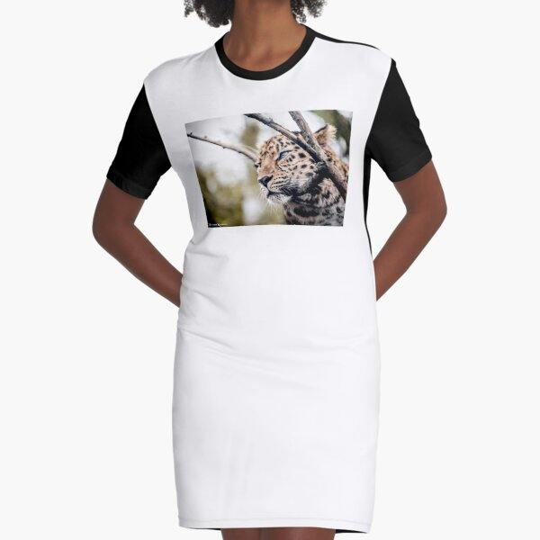 Love Panther IV Graphic T-Shirt Dress