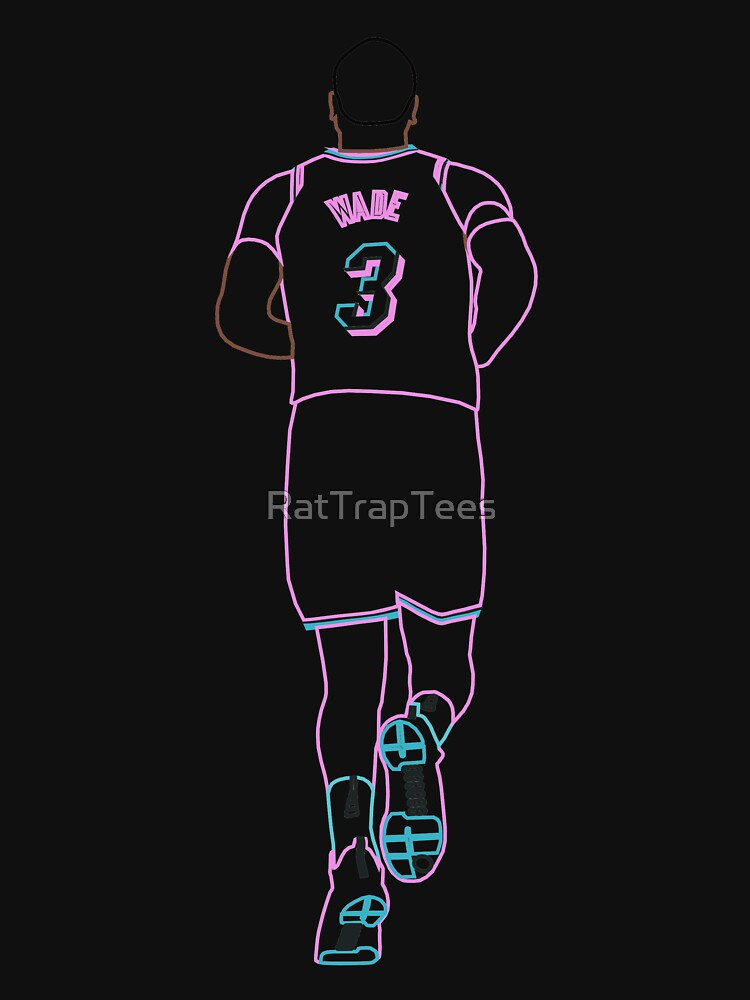 Dwyane Wade Miami Vice Neon by RatTrapTees