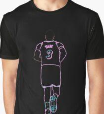 Dwyane Wade Miami Vice Neon Grafik T-Shirt
