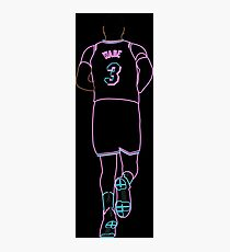 Dwyane Wade Miami Vice Neon Photographic Print