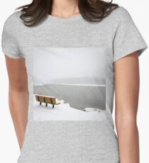 Looking Over the Frozen Lake Women's Fitted T-Shirt