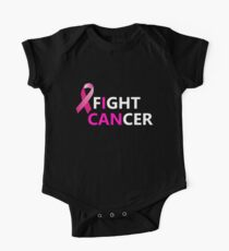 I Can Fight Cancer Breast Cancer Hope Motivational Love T-Shirt One Piece - Short Sleeve