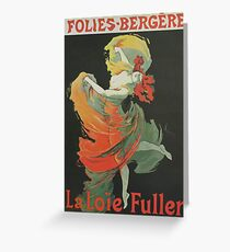 Folies Bergere Vintage French Can Can Dancer 1893 Toulouse Lautrec Greeting Card