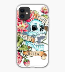 Skull and Lotus iPhone Case