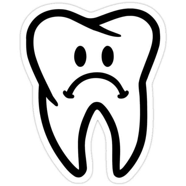 Quot Sad Tooth Face Quot Stickers By Designzz Redbubble