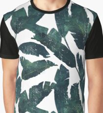 Tropical Banana Leaves Graphic T-Shirt