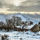 Mountain Cottage In Winter by Derek Smyth