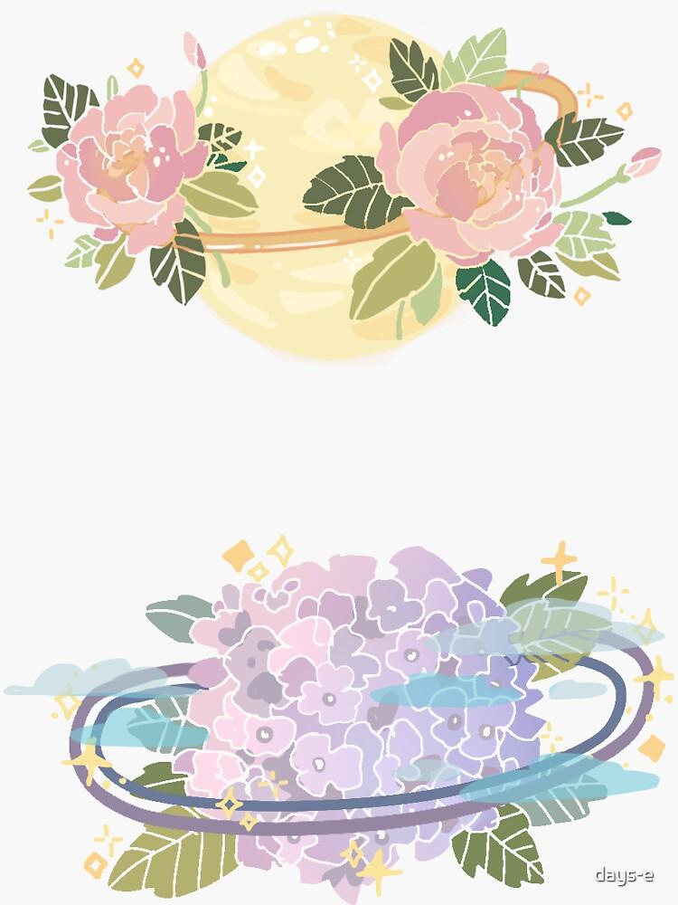 Planetas de flores de days-e