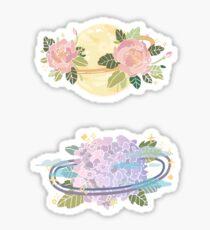 Blumen Planeten Sticker