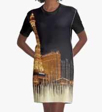 Vestido camiseta Las Vegas en la noche