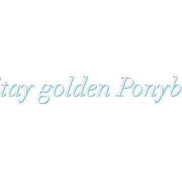 Stay Golden Ponyboy  by TheDooderino