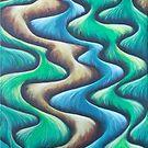 Terra Firma Ripples Abstract Art by ReginaThompson