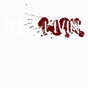 Clean Livin Logo - Black Shirt by ESSstore