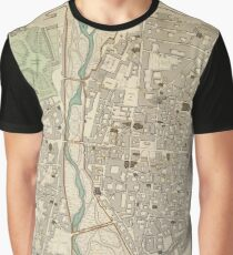 Vintage Map of Parma Italy (1840) Graphic T-Shirt