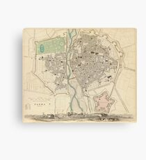 Vintage Map of Parma Italy (1840) Canvas Print
