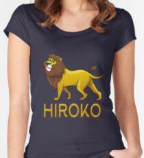 Hiroko Lion Drawstring Bags Women's Fitted Scoop T-Shirt