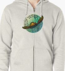 Sea turtle and fish Galapagos Islands Zipped Hoodie