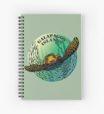 Sea turtle and fish Galapagos Islands Spiral Notebook