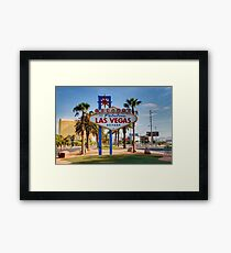 Welcome To Las Vegas Sign Series 1 of 6 Framed Print