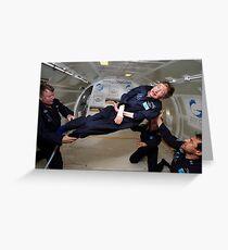 Stephen Hawking no gravity Greeting Card