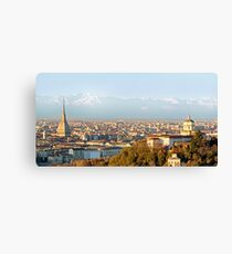 Turin (Torino), panorama at sunset Canvas Print