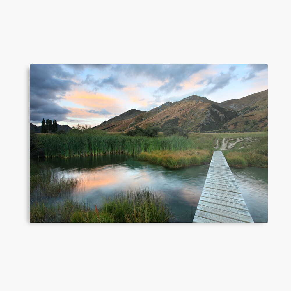 Last of the Light, Queenstown, South Island, New Zealand Metal Print