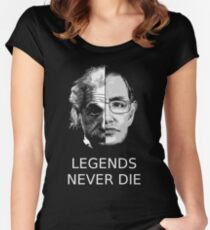 Albert Einstein - Stephen Hawking - Legends Never Die  Women's Fitted Scoop T-Shirt