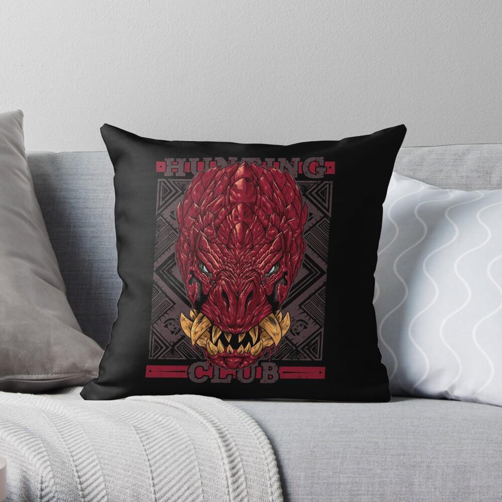 Hunting Club: Odogaron Throw Pillow